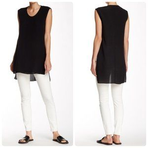 Helmut Lang Round Neck Silk Gaze Blouse